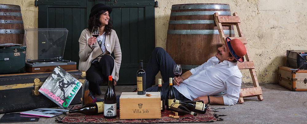 ヴィッラヨブの生産者アレッサンドロと妻のラヴィニア