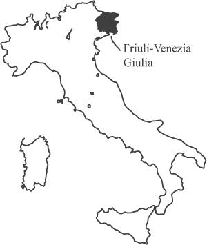 フリウリヴェネツィアジュリアの地図