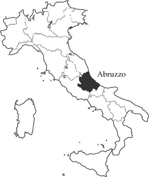 アブルッツォ州の地図