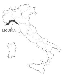 リグーリア州の地図