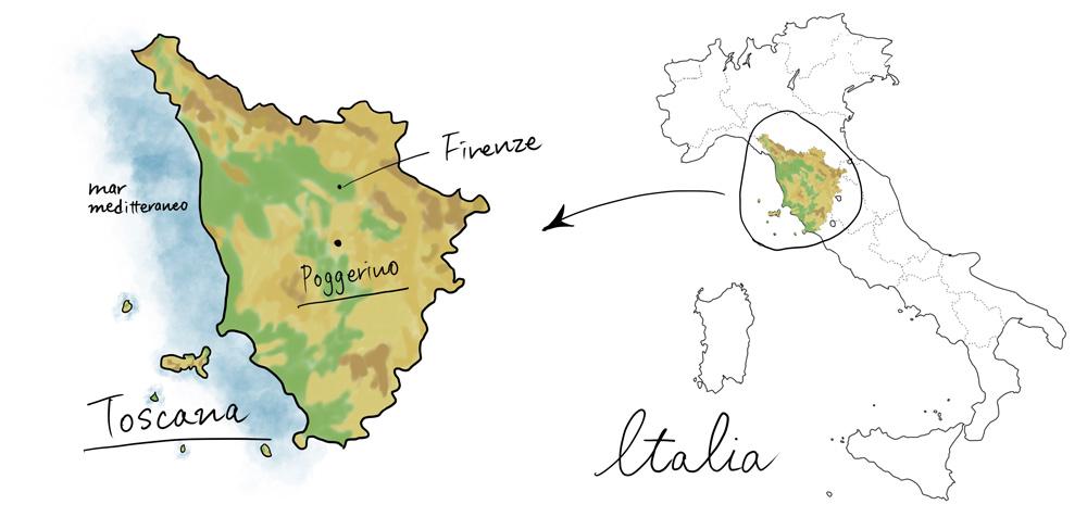 ポッジェリーノの地図