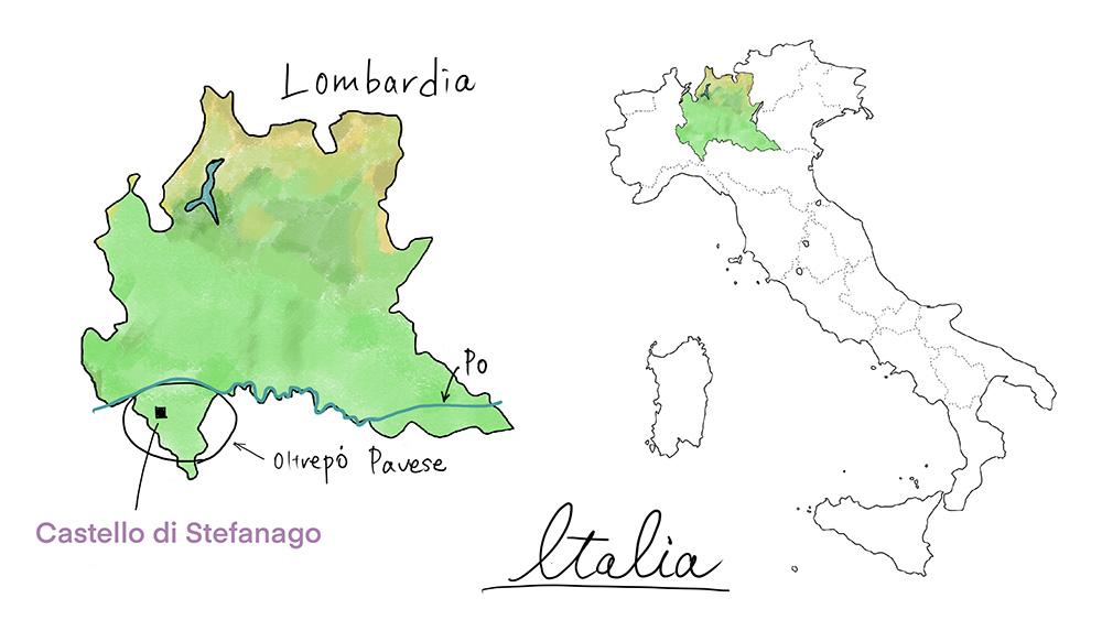 カステッロディステファナーゴの地図
