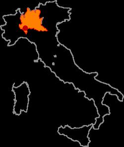 ピエモンテ、オルトレポパヴェーゼの地図