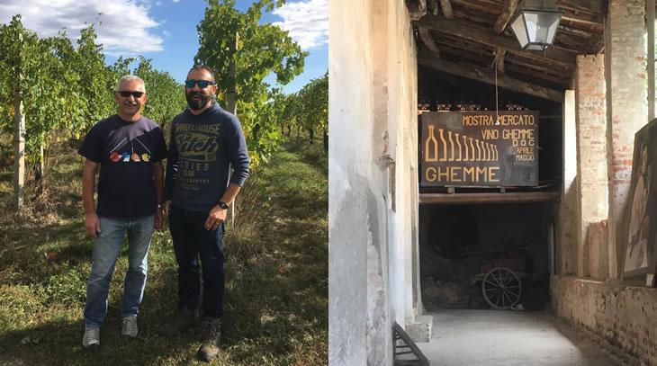 マッツォーニの葡萄畑と生産者のティツィアーノ氏