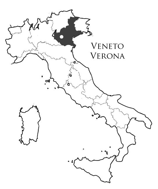 ヴェネト州ヴェローナの地図