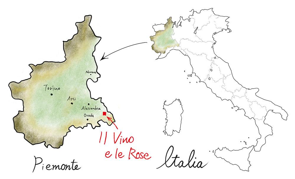 イルヴィーノエレロゼの地図