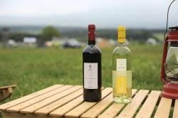 キャンプでワイン